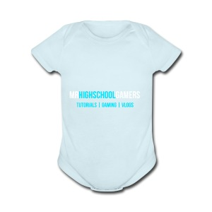 Logo and Sub-heading - Short Sleeve Baby Bodysuit