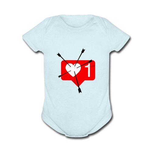 Valentines Day Tee - Organic Short Sleeve Baby Bodysuit