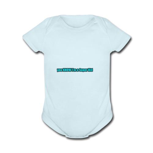 Super Kid - Organic Short Sleeve Baby Bodysuit