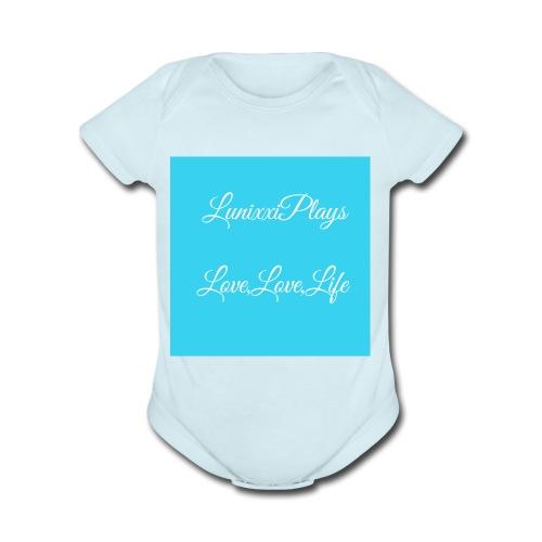 CA3D7307 39A8 4934 9131 86273CC54270 - Organic Short Sleeve Baby Bodysuit