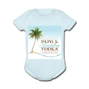 PapoJs Labels Logo - Short Sleeve Baby Bodysuit