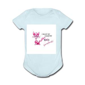 pink pussy forward tee - Short Sleeve Baby Bodysuit