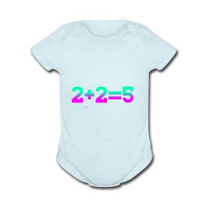 2+2=5 - Short Sleeve Baby Bodysuit
