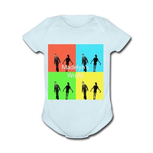 Madelyn's World - Organic Short Sleeve Baby Bodysuit