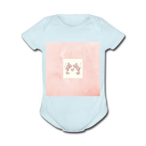 Minnie and Mickey Love - Short Sleeve Baby Bodysuit