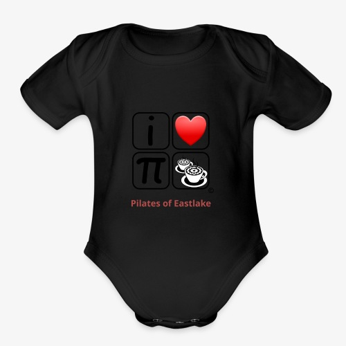 I love Pilates black and white - Organic Short Sleeve Baby Bodysuit