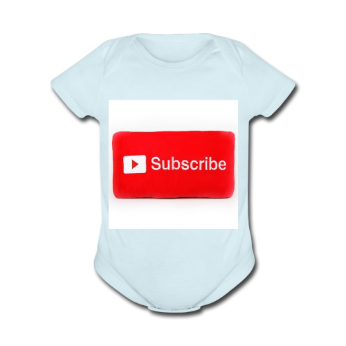 Subscribe T=shirts - Organic Short Sleeve Baby Bodysuit