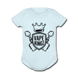 vape kingz LOGO - Short Sleeve Baby Bodysuit