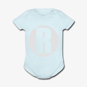R white - Short Sleeve Baby Bodysuit