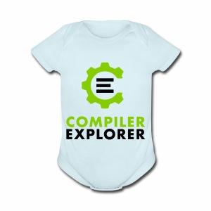 Logo and text - Short Sleeve Baby Bodysuit