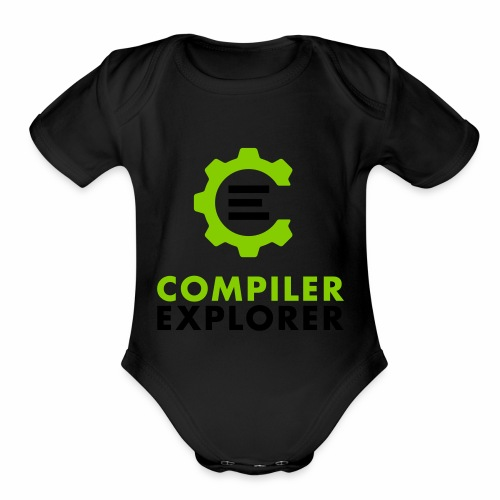 Logo and text - Organic Short Sleeve Baby Bodysuit