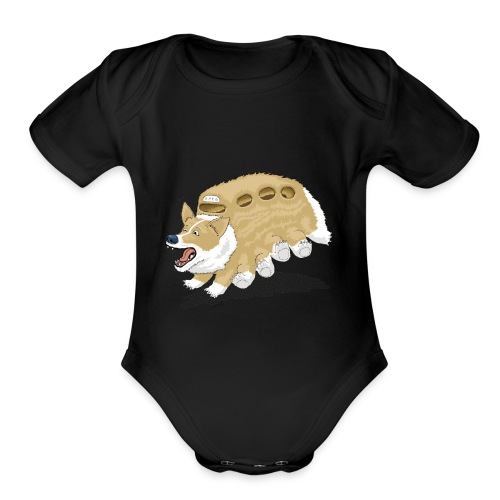 Corgbus: Jump inside for a Very Furry Ride. - Organic Short Sleeve Baby Bodysuit