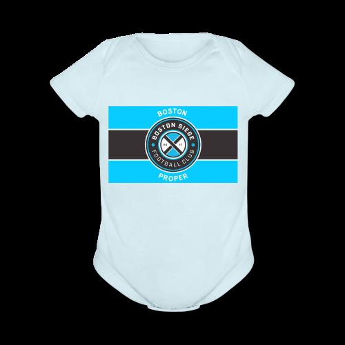 Boston Proper Flag Design - Organic Short Sleeve Baby Bodysuit