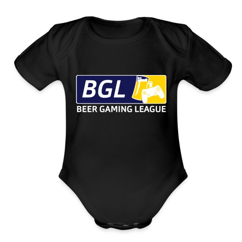 Mens Official Beer Gaming League Shirt - Organic Short Sleeve Baby Bodysuit