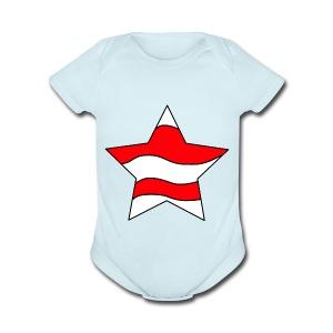 Patriot-1 Emblem - Short Sleeve Baby Bodysuit