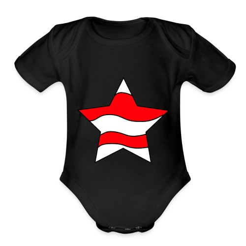 Patriot-1 Emblem - Organic Short Sleeve Baby Bodysuit