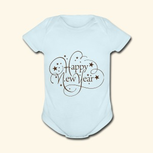 Happy New Year - Short Sleeve Baby Bodysuit