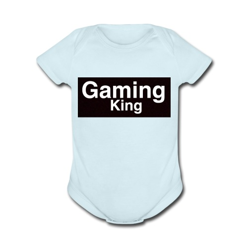 Gaming king - Organic Short Sleeve Baby Bodysuit