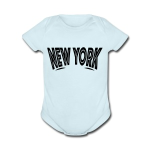 New York Looking - Short Sleeve Baby Bodysuit