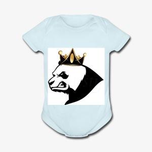 Panda squad hoodie - Short Sleeve Baby Bodysuit