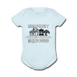 Resort Hopper Logo - Short Sleeve Baby Bodysuit