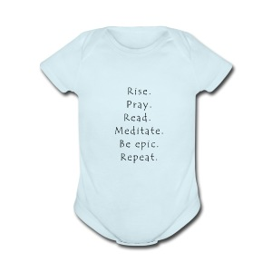 Rise... - Short Sleeve Baby Bodysuit
