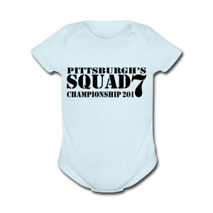 Pittsburgh_Squad - Short Sleeve Baby Bodysuit