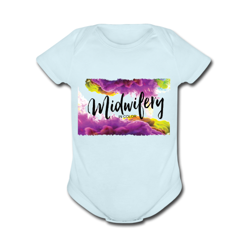 MIC Color Cloud Transparent - Organic Short Sleeve Baby Bodysuit