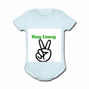 Peace Brand White - Short Sleeve Baby Bodysuit