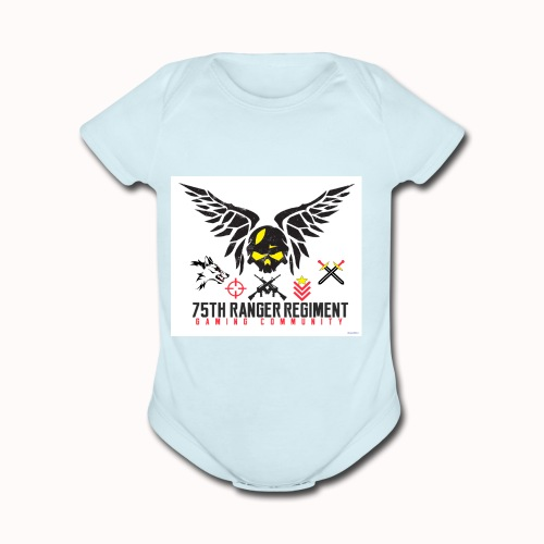 75th Ranger Regiment Gaming Community - Organic Short Sleeve Baby Bodysuit