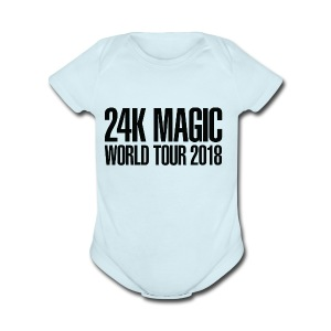 BRUNO MARS 24K MAGIC WORLD TOUR 2018 T-Shirt - Short Sleeve Baby Bodysuit