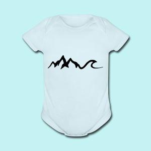 Mount Wave - Short Sleeve Baby Bodysuit