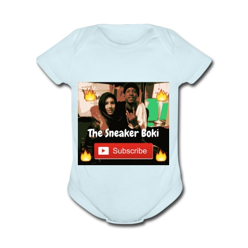 THE SNEAKER BOKI DURK FIRE - Organic Short Sleeve Baby Bodysuit