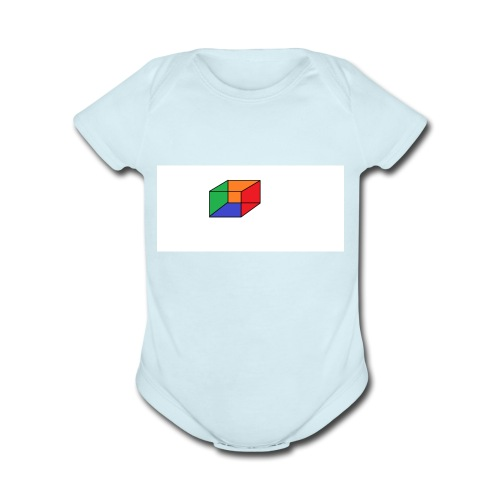 Cubical - Organic Short Sleeve Baby Bodysuit