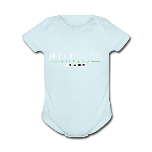 hlfsocialwht - Short Sleeve Baby Bodysuit