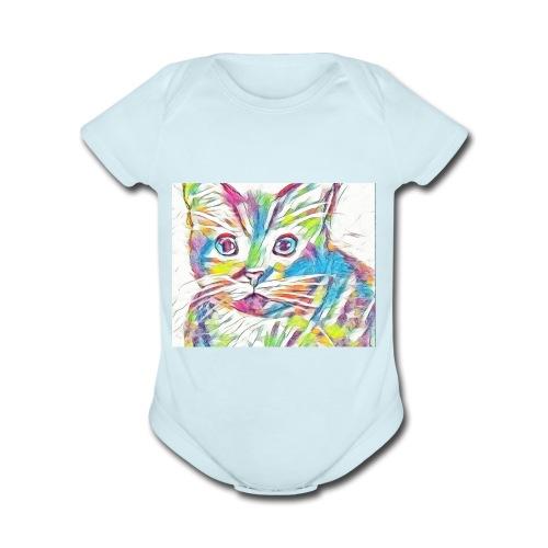 Meow - Organic Short Sleeve Baby Bodysuit