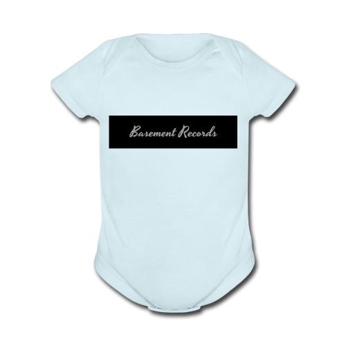 Basement Records - Organic Short Sleeve Baby Bodysuit