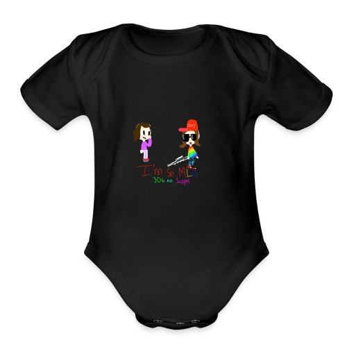 I'm so MLG - Organic Short Sleeve Baby Bodysuit