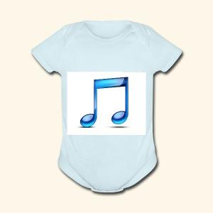 music note icon - Short Sleeve Baby Bodysuit