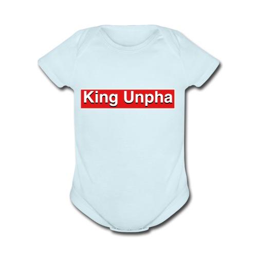 This is the king unpha merch - Organic Short Sleeve Baby Bodysuit