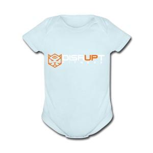 disrupt logo - Short Sleeve Baby Bodysuit