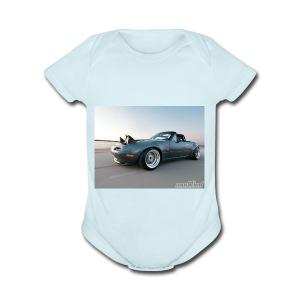 modp 1204 06 1990 mazda mx5 miata full view - Short Sleeve Baby Bodysuit