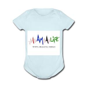 I'm ALive... I Am a Life - Short Sleeve Baby Bodysuit