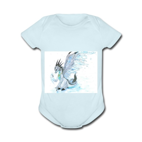 Little dude griffins and dragons 30659635 1004 791 - Organic Short Sleeve Baby Bodysuit