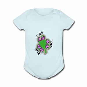 FAITH SHAMROCK - Short Sleeve Baby Bodysuit