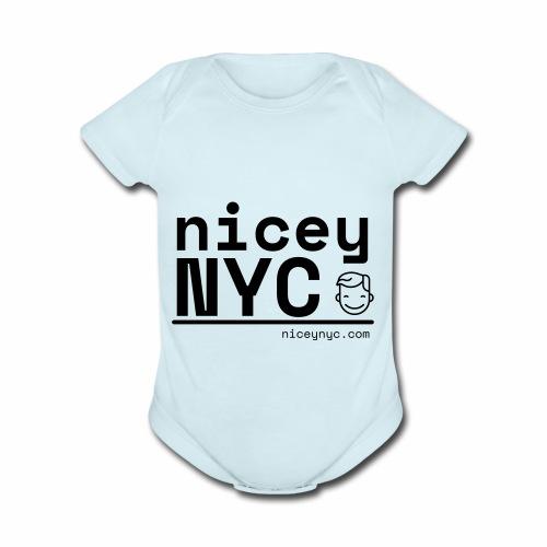 NiceyNYC Swag - Organic Short Sleeve Baby Bodysuit