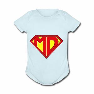 Medical Doctor Superman - Short Sleeve Baby Bodysuit