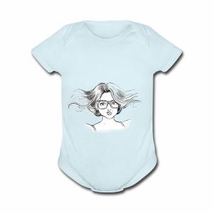 chica linda - Short Sleeve Baby Bodysuit