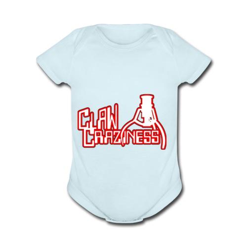 Claw Crazy - Organic Short Sleeve Baby Bodysuit