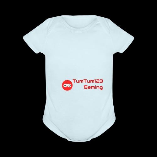 TumTum123 Gaming Emblem 2.0 - Organic Short Sleeve Baby Bodysuit